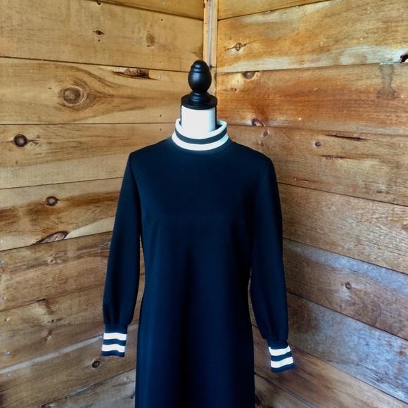 Vintage Dresses & Skirts - Vintage David Crystal 1960's Black Polyester Dress
